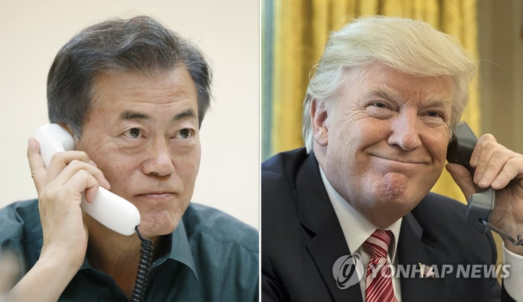 Moon, Trump Agree on Close Consultation for Success of US-N. Korea Summit