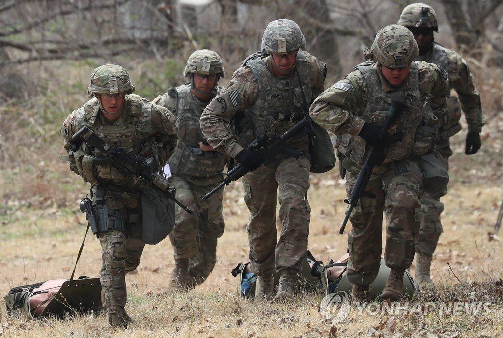 合同軍事演習中止を表明 朝鮮中央通信