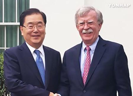 """청와대 """"'북 핵무기 반출제안' 일본 언론 보도 사실 아니야"""""""