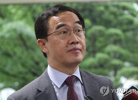 韩国统一部长官希望北韩认清无核化和南北韩关系