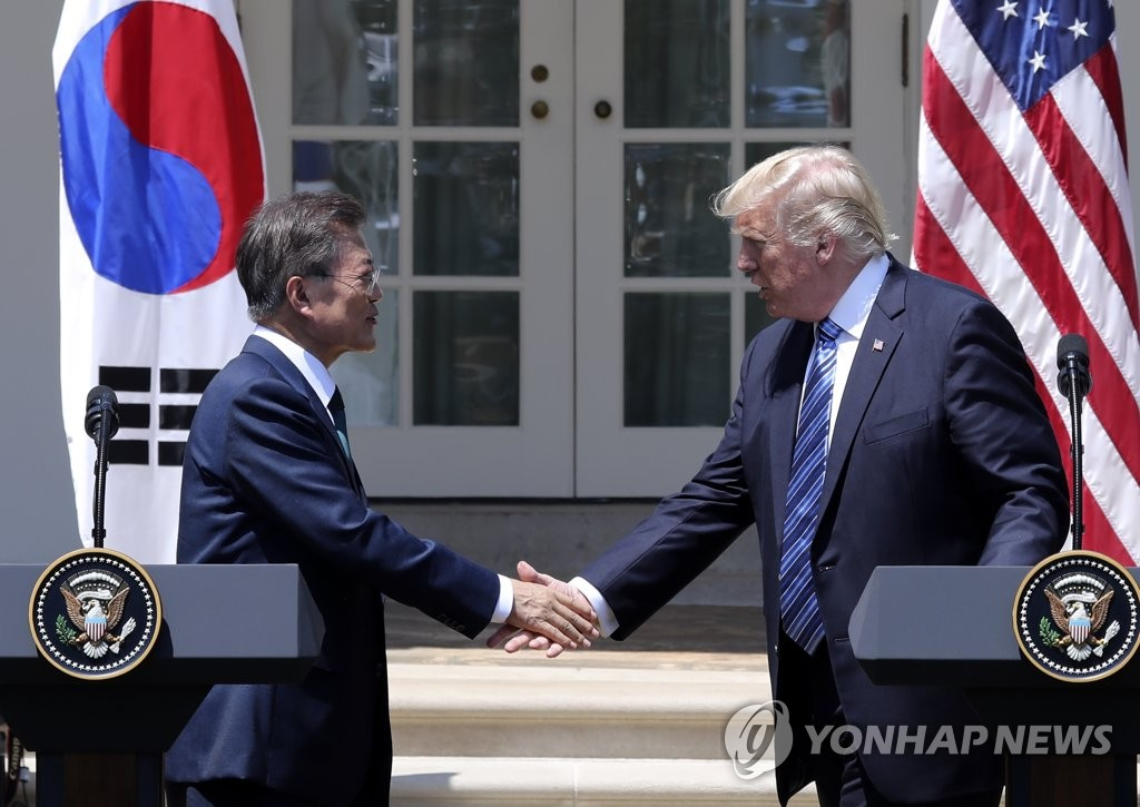 President Moon Leaves for Washington for Talks with Trump