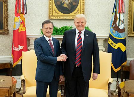 Lãnh đạo Hàn-Mỹ nhất trí tiến hành Hội nghị thượng đỉnh Mỹ-Triều một cách thuận lợi