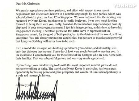Donald Trump cancela la cumbre con Kim Jong Un en Singapur