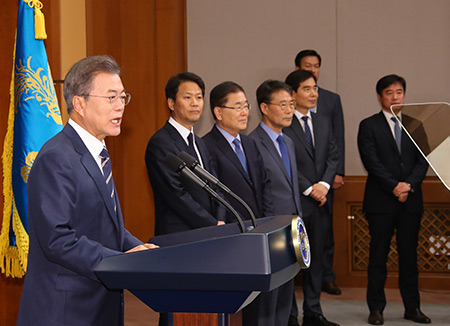 Moon: Kim Reaffirms Will to Denuclearization