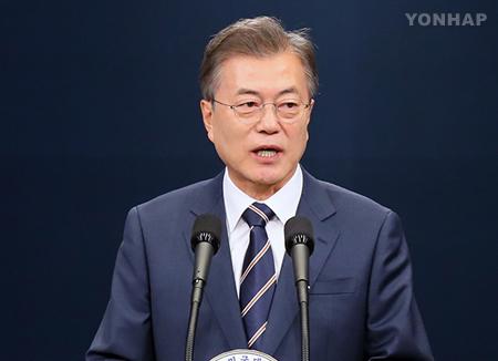 文大統領 「金正恩委員長は非核化への意志表明」