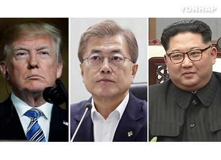 """청와대 """"남북미 종전선언 여부, 북미 정상회담 성과에 연동"""""""