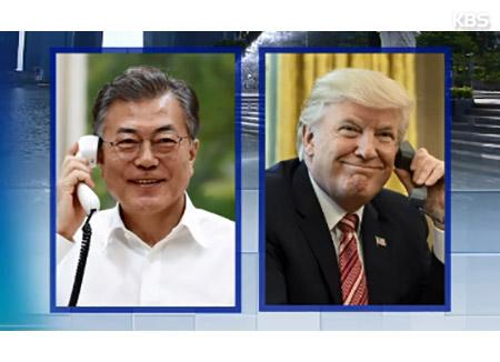 Lãnh đạo Hàn-Mỹ điện đàm một ngày trước thềm Hội nghị thượng đỉnh Mỹ-Triều