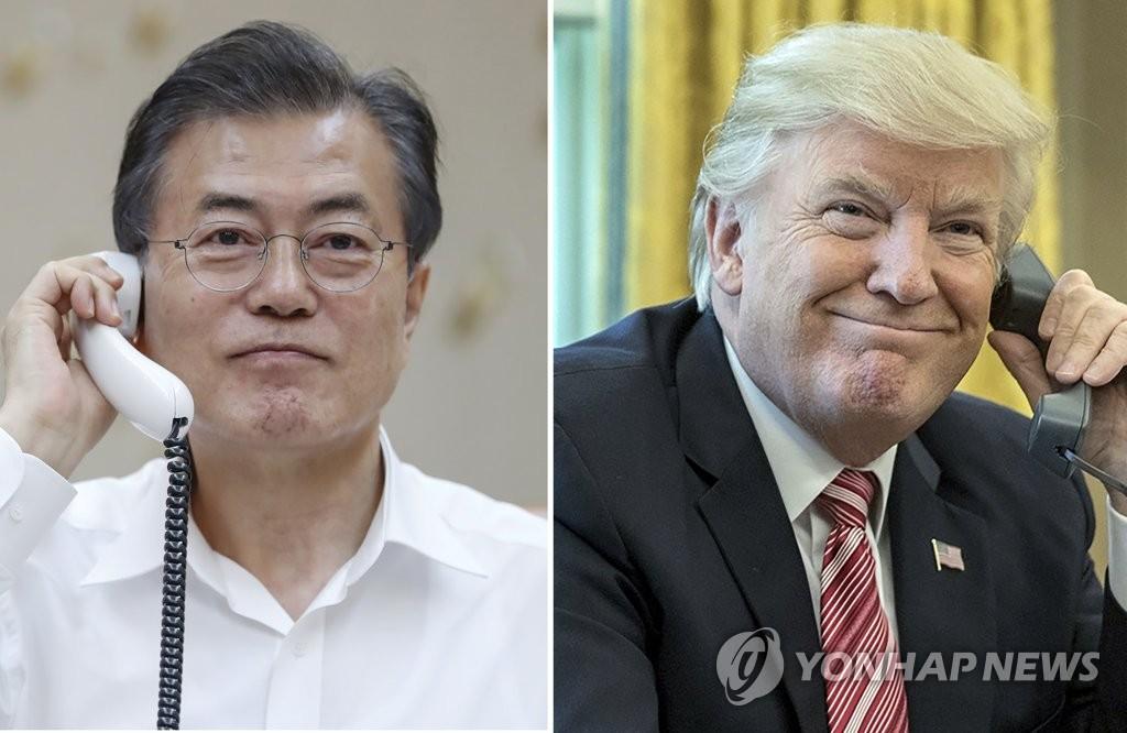 Moon y Trump coordinan por teléfono medidas de seguimiento a la cumbre de Singapur