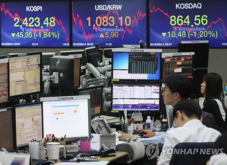 La subida de tipos en EEUU afecta a la Bolsa surcoreana