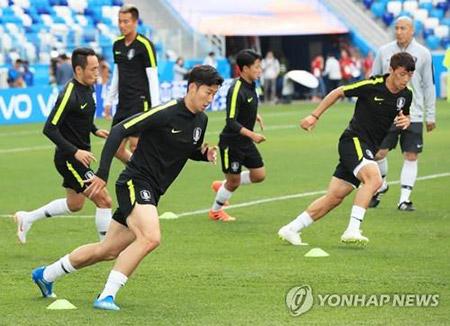 Corea del Sur prepara el partido contra Suecia en la Copa del Mundo