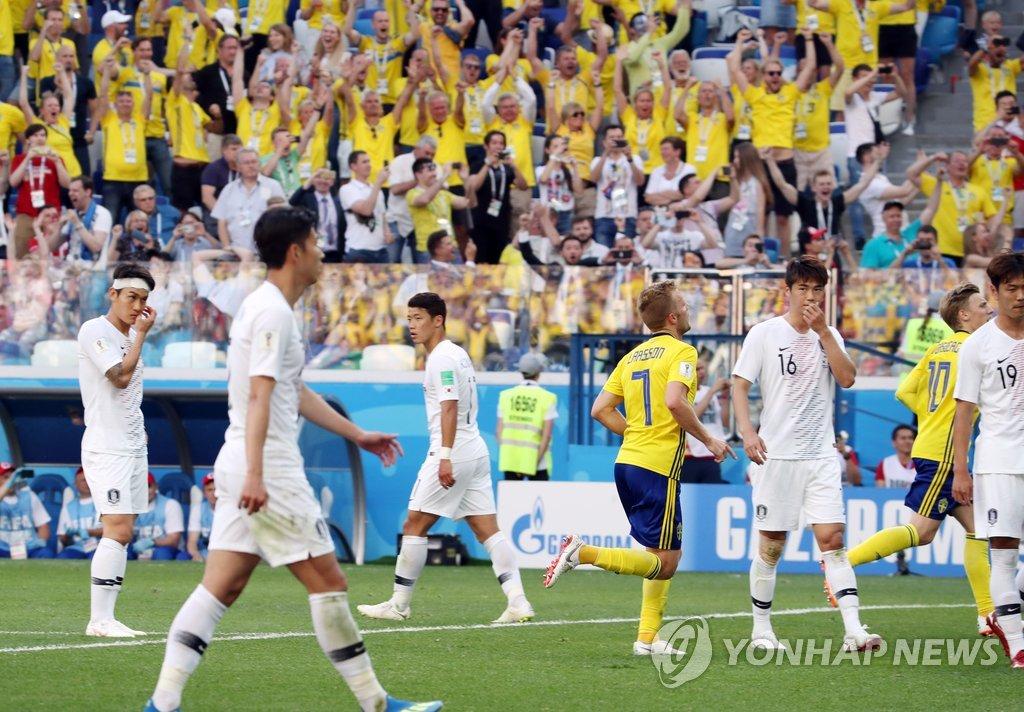 Corea del Sur pierde ante Suecia por un gol de penalti