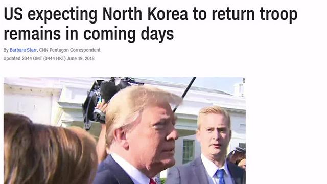 CNN: Nordkorea will offenbar sterbliche Überreste von bis zu 200 US-Soldaten überstellen