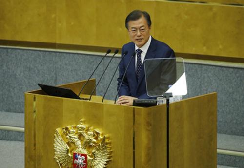 Präsident Moon betont bilaterale Zusammenarbeit mit Russland