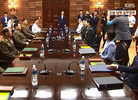 南北韩25日举行工作会谈 讨论恢复军事热线事宜