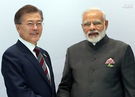 Moon Embarks on Trip to India, Singapore