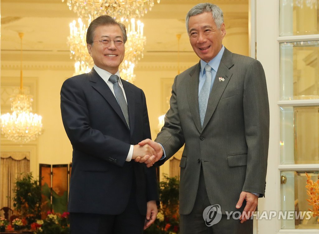 Leaders of S. Korea, Singapore Agree to Boost Economic, Diplomatic Ties