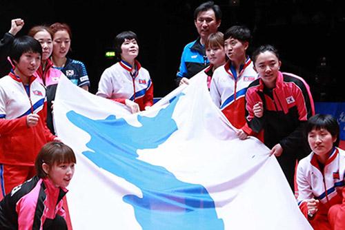 25名北韩选手15日来韩参加乒乓球公开赛