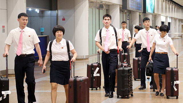 N. Koreans Arrive in S. Korea for Int'l Table Tennis Event
