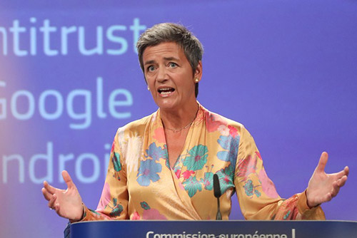 Google Is Fined A Record $5 Billion In EU Antitrust Case