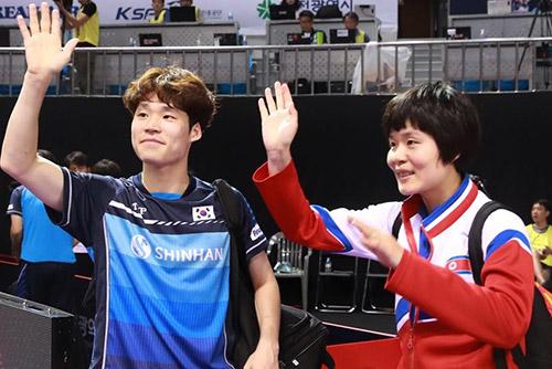 Open international de Daejeon : une équipe conjointe intercoréenne qualifiée en demi-finale