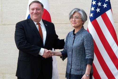 Außenministerin Kang informiert Pompeo über innerkoreanische Gespräche