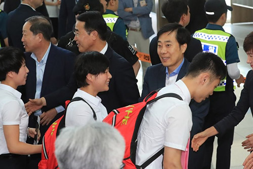 북한 탁구선수단, 북한으로 귀환…11월에 단일팀 재호흡