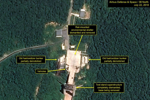 S. Korean Intelligence: N. Korea Has Begun Dismantling Missile Engine Test Site