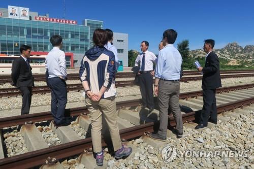 南北韩24日就京义线铁路连接区段进行联合检查