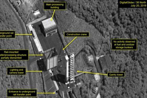 北韓 西海衛星発射場の解体開始か