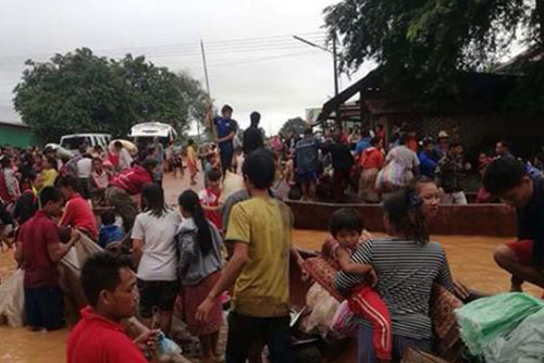 Laos Government Declares Dam Collapse Site as Disaster Area