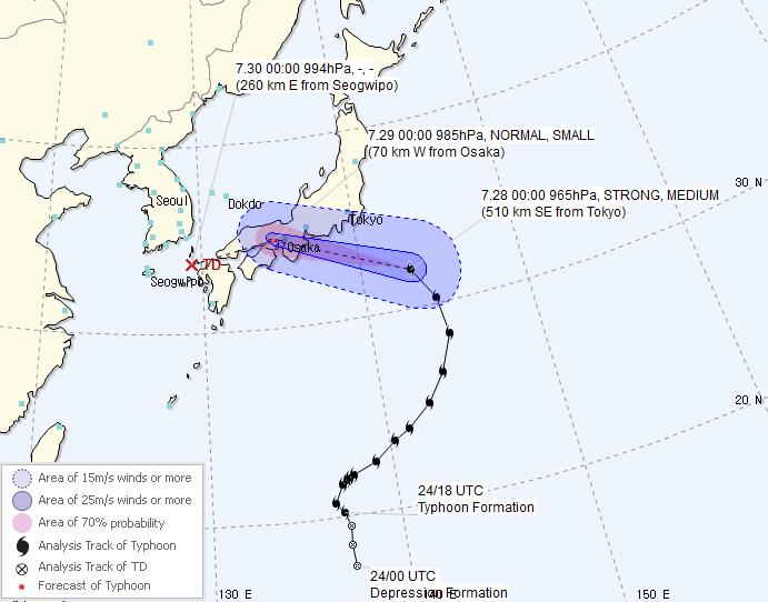 Typhoon Jongdari to Reach East of Jeju Monday, Heat Wave to Continue