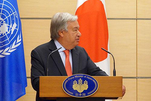 国連事務総長  「北韓の非核化のため訪朝も」