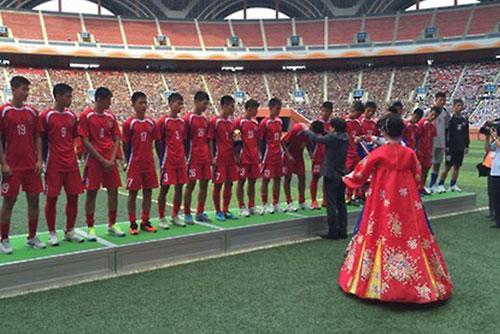 平壌で国際ユースサッカー大会  韓国政府が選手団の訪朝承認