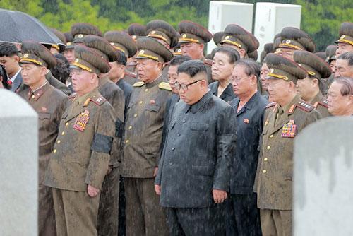 북한 김정은, 김영춘 전 인민무력부장 영결식에 참석