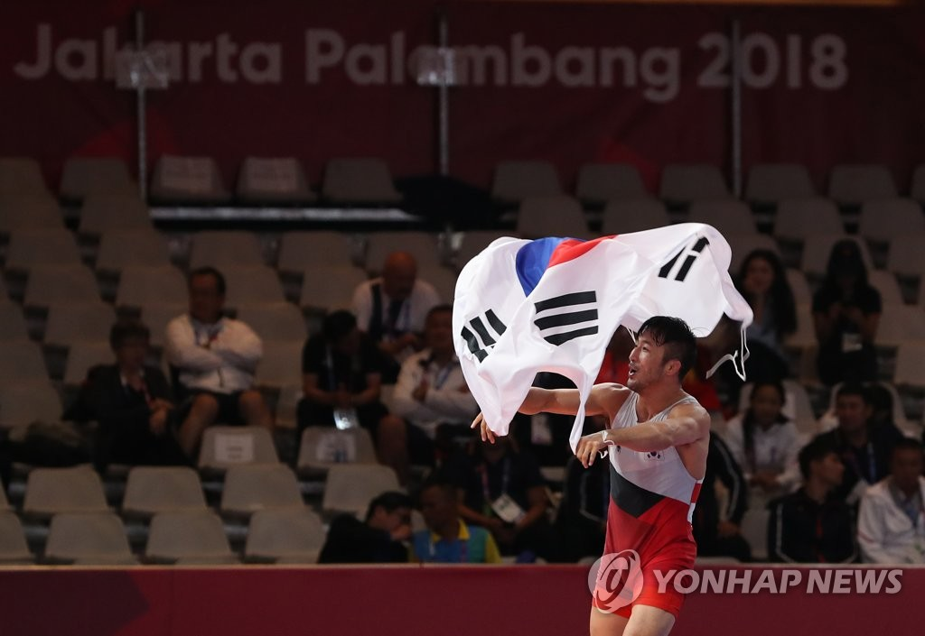 [Asian Games] S. Korea Wins Three Golds in Wrestling, Fencing, Taekwondo Tuesday