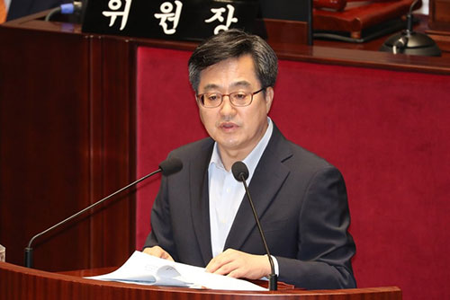 """김동연 """"고용, 빠른 시간 회복 쉽지 않아""""...장하성과 시각 차"""