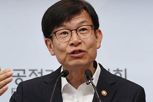 김상조 취임 뒤 공정위 대기업 제재 건수 24% 줄어