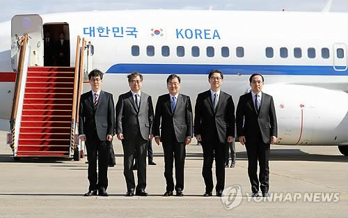 Moons Sondergesandte nach Pjöngjang abgeflogen