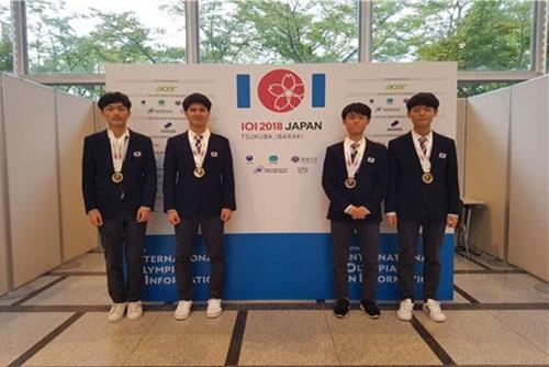 한국대표단, 국제정보올림피아드서 금3·은1 수상