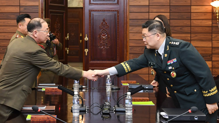Two Koreas Holding Military Talks