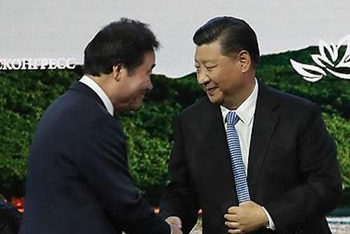 Xi Jinping äußert Wunsch nach Erfolg des Gipfels zwischen Moon und Kim