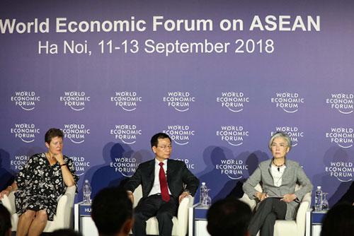 Außenministerin betont beim WEF-Forum Wichtigkeit des nächstwöchigen Korea-Gipfels