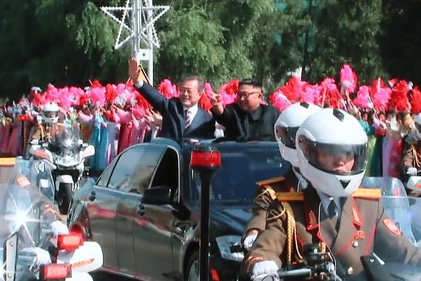 Pyongyang recibe con gran euforia a Moon Jae In