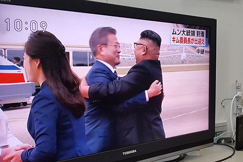 Les médias étrangers suivent le voyage nord-coréen de Moon Jae-in
