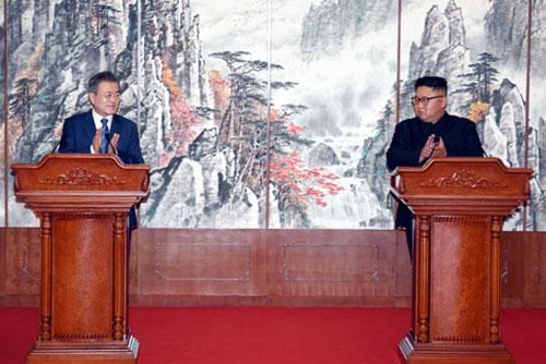 남북 비핵화 방안 발표 동창리 영구폐쇄 미 상응조치 후 추가비핵화