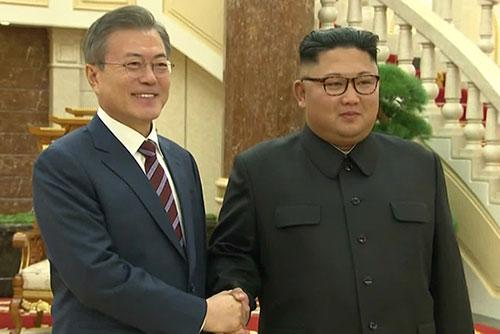 Präsident Moon Jae-in und Nordkoreas Machthaber Kim Jong-un treffen heute erneut zusammen