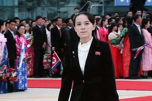南北韩首脑会谈期间金与正频频现身受关注