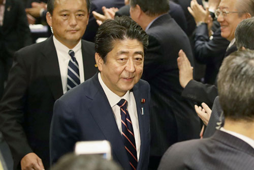 Abe Wins Another Term as LDP Chief