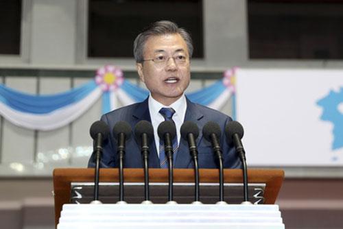 韩国总统首次向北韩居民发表演说 强调打造没有核威胁的韩半岛