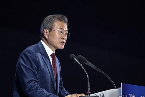 Präsident Moon vestärkt seine Vermittlerrolle zwischen Nordkorea und USA